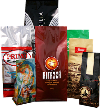 Coffee Bags with one-way valves